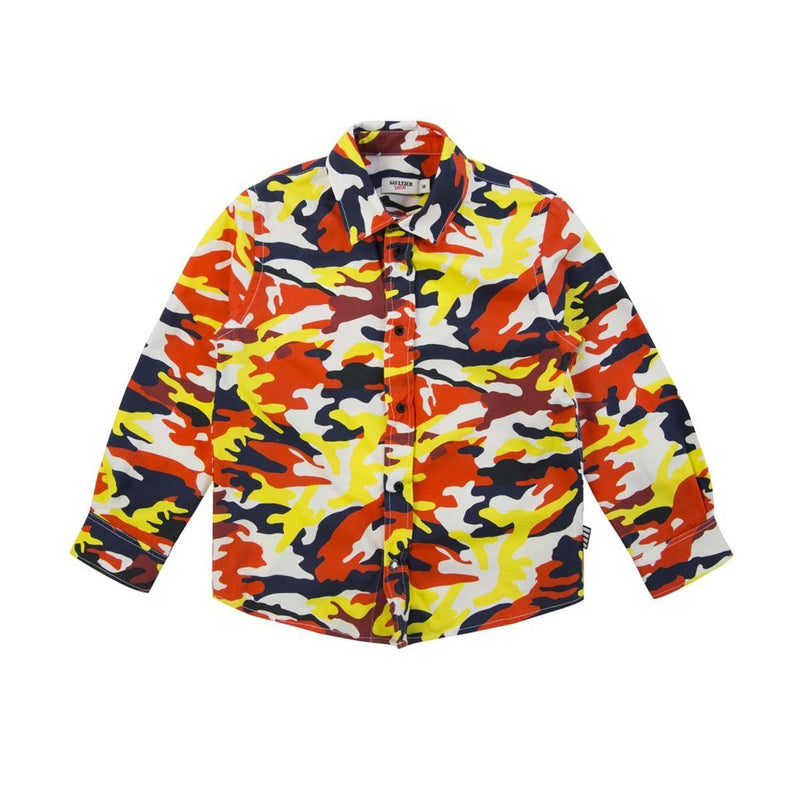 Junior Gaultier - Bright Camo Shirt For Boys, Multicolor