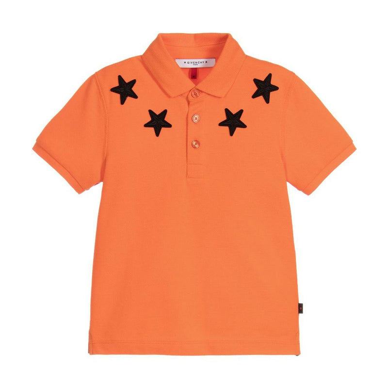 Givenchy Short Sleeves Polo For Boys, Orange