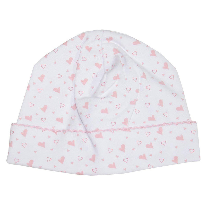 Kissy Kissy -  Hearts & Stars Print Hat For Boys, Pink