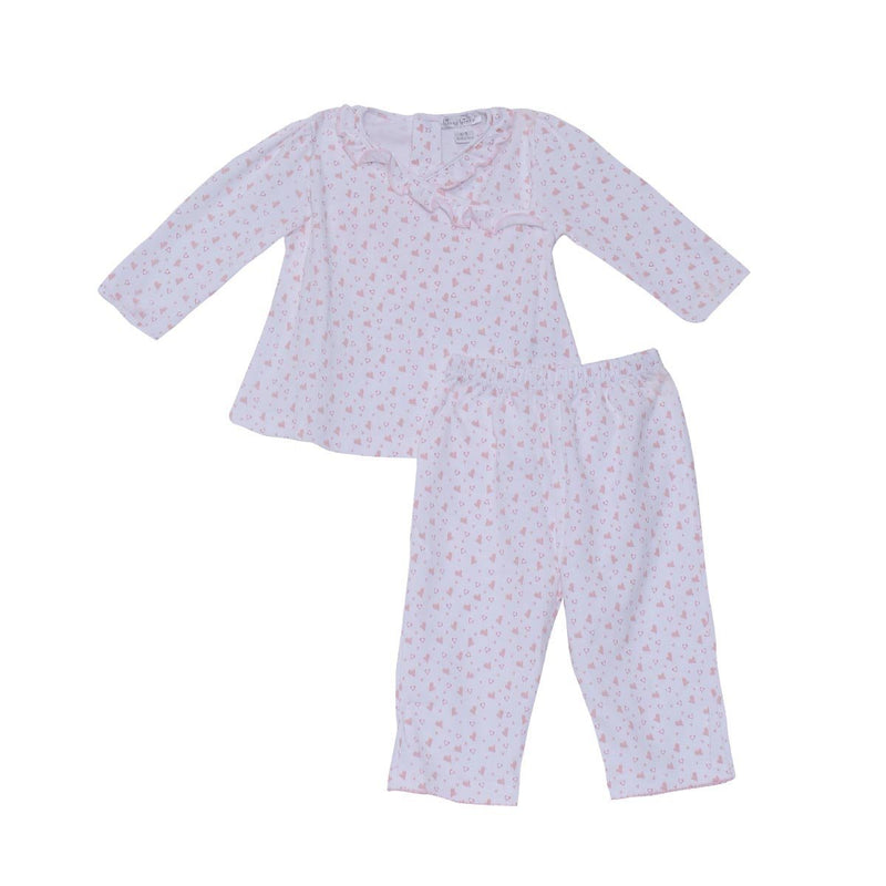 Kissy Kissy - Kissy Hearts & Stars Pant Set For Babies/Girls, Pink