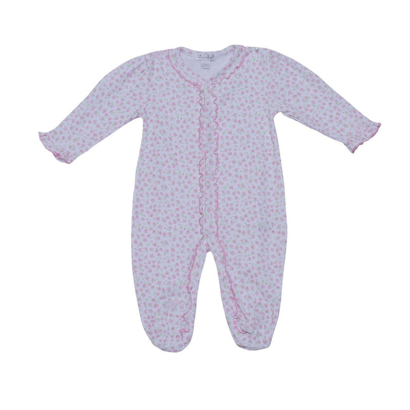 Kissy Kissy Footie- Rambling Roses BodySuit For Girls, Pink
