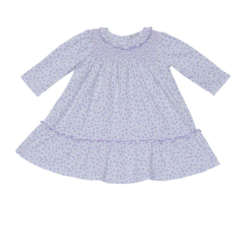 Kissy Kissy - Rambling Roses Dress Set For Girls, White/Purple