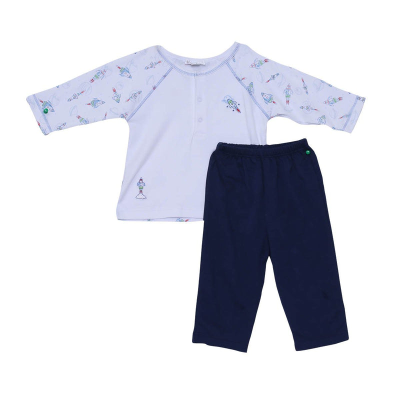 Kissy Kissy - Pant Set-Rockin Rockets For Baby Boys, Navy