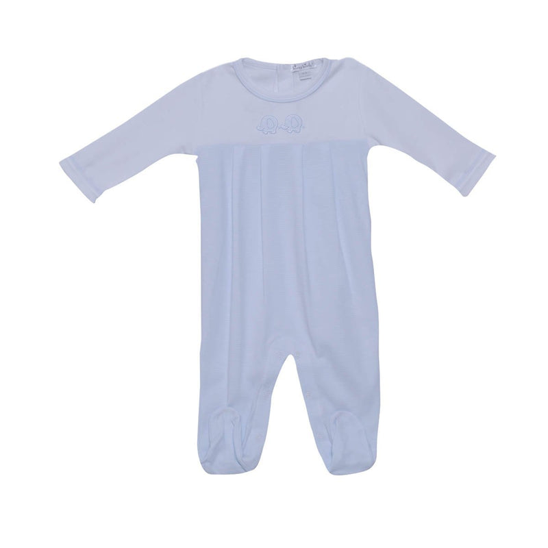 Kissy Kissy -Footie Trunk Mates For Baby Boys, White/ Light Blue
