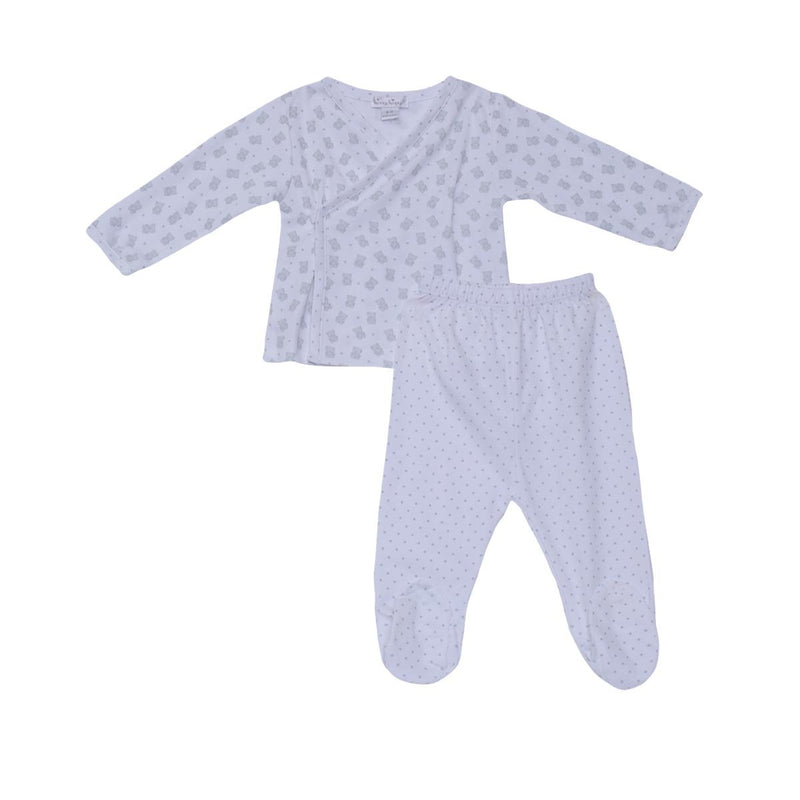 Kissy Kissy - Footed Pant Set-Beloved Bears Set Unisex, Silver