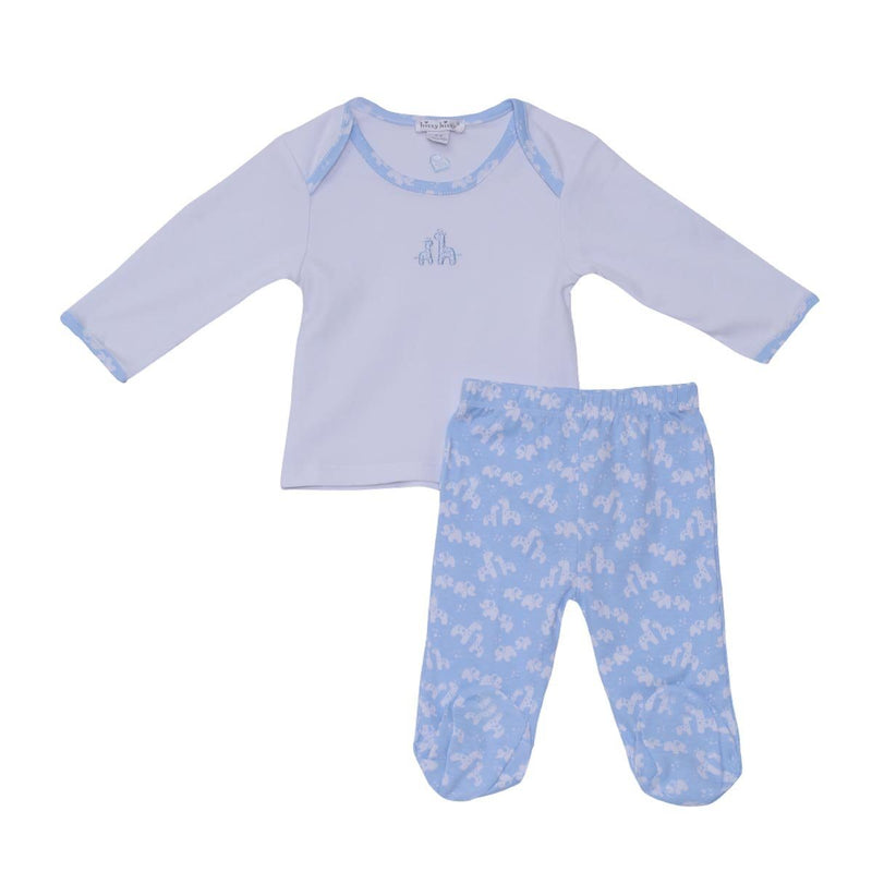 Kissy Kissy - Footed Pant Set Unisex, Light Blue