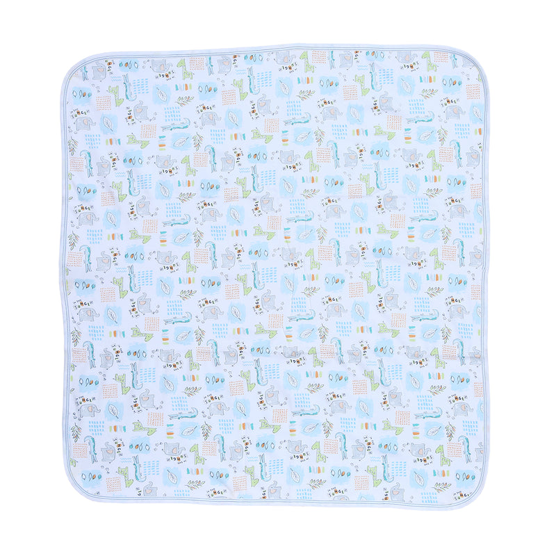 Kissy Kissy Blanket Prt One Size, Blankets for Boys, Light Blue