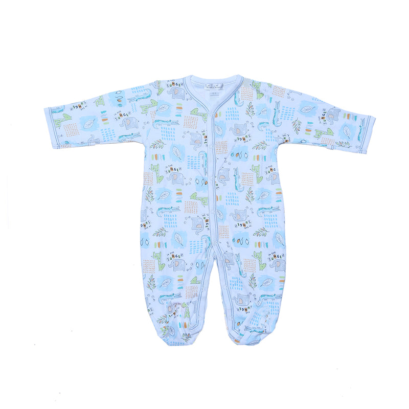 Kissy Kissy Footie Prt Infants-Toddlers, Footies for Boys, Light Blue