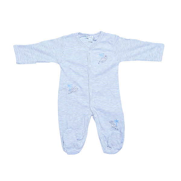 Kissy Kissy Footie Str Infants-Toddlers, Footies for Boys, Grey