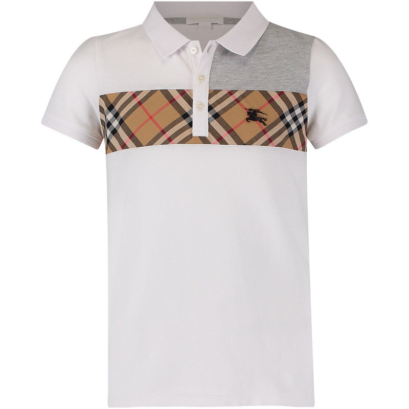 Burberry KB5 Jeff Polo Shirt for Boys, White