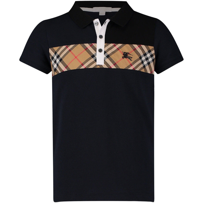 Burberry KB5 Jeff Polo Shirt for Boys, Navy