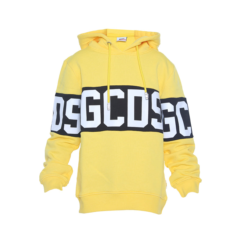 Gcds Hooded Sweatshirt for Boys, Yellow