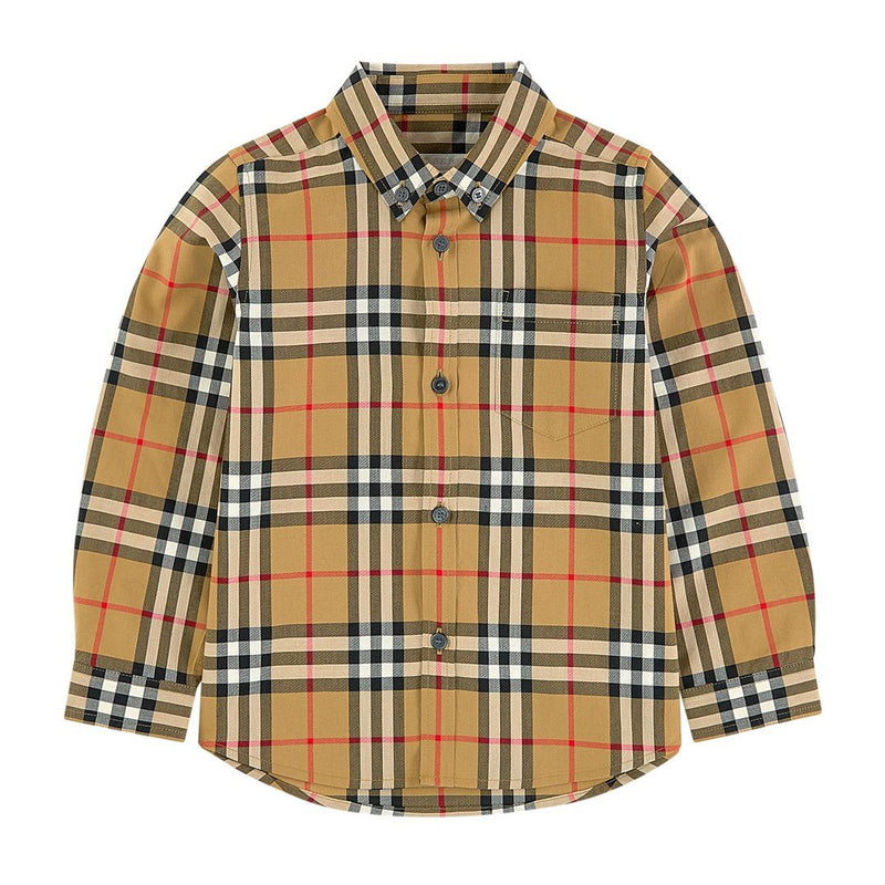 Burberry KB5 M Fred Pocket Long Sleeves Shirt for Boys, Yellow