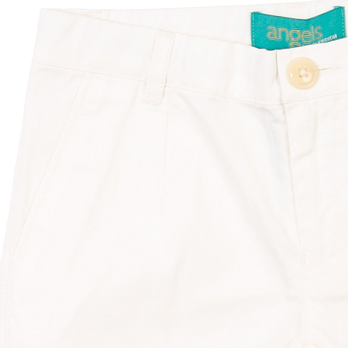 Angels Luxury Kidswear, Chino Shorts For Boys, White