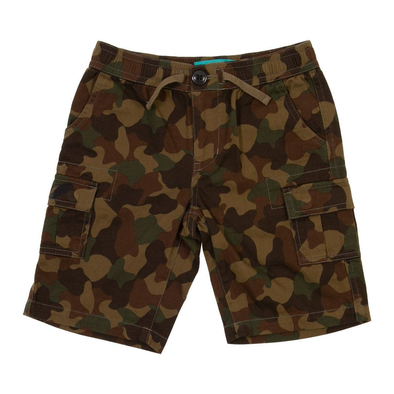 Angels Luxury Kidswear, Cargo Shorts For Boys, Camouflage Green