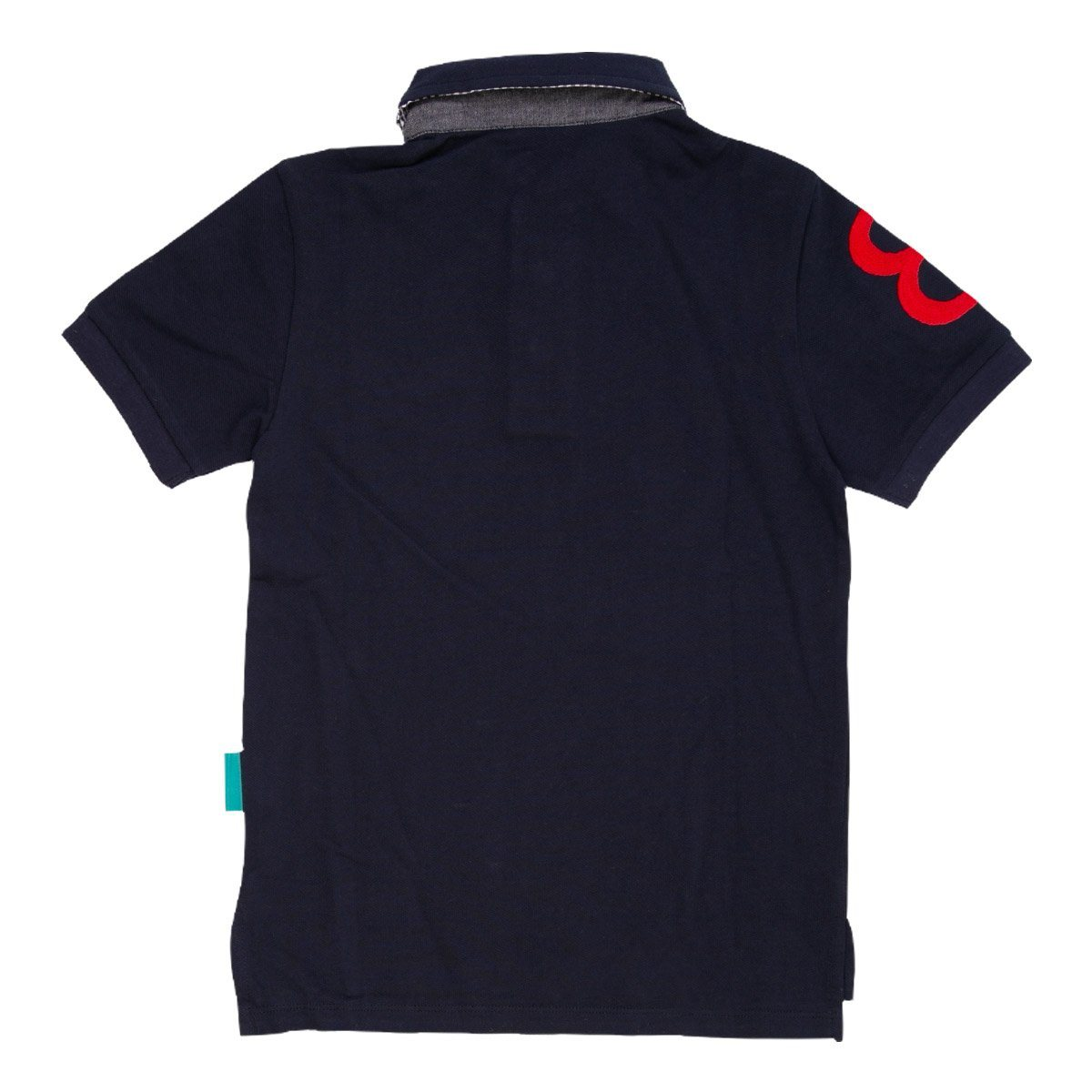 Angels Luxury Kidswear Oxford Polos For Boys, Navy Blue