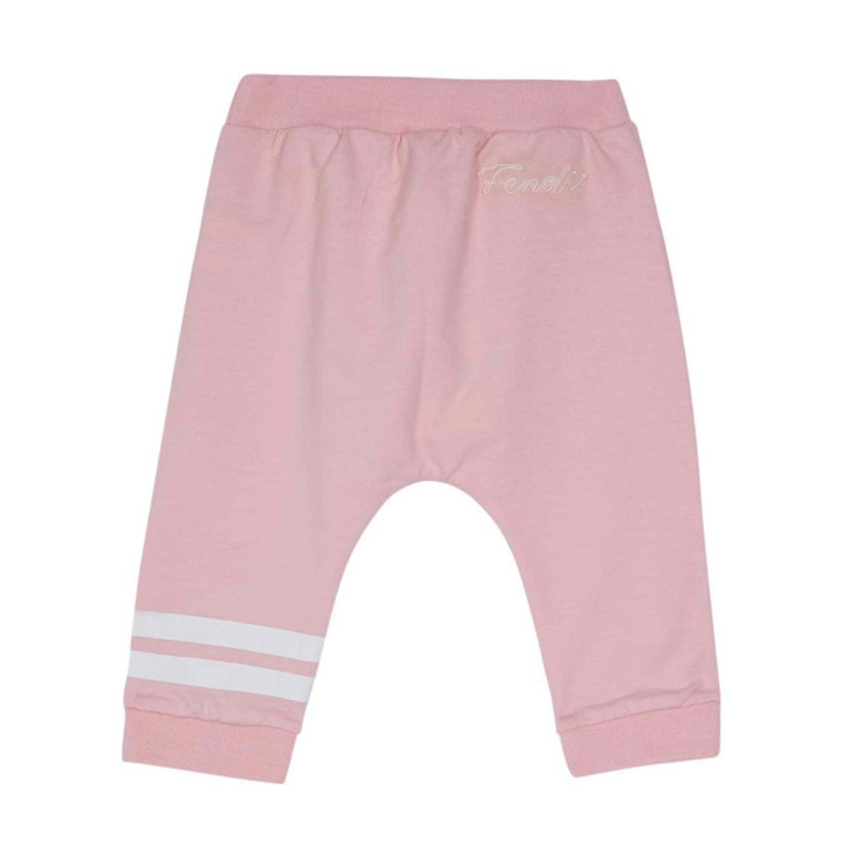 Fendi - Light Fleece Trousers For Girls, Light Pink