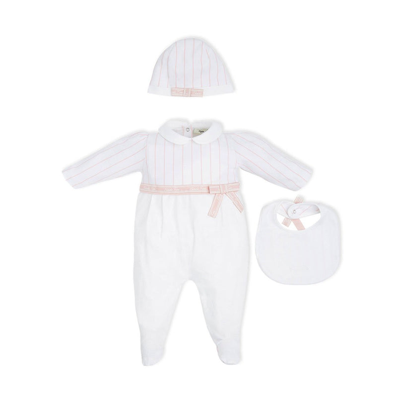 Fendi - Baby Kit For Girls, Pink/ White