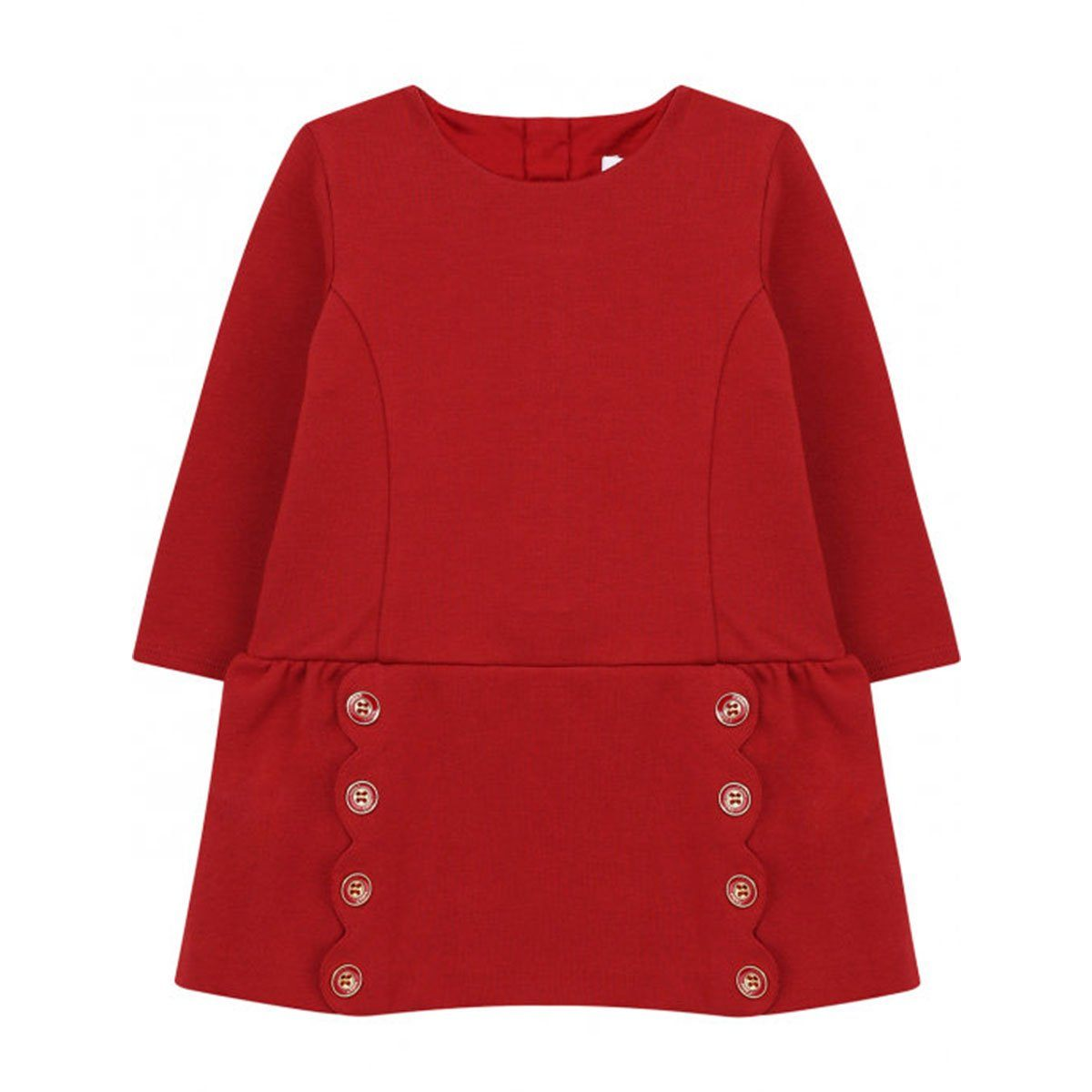 Chloe - Dress For Girls, Dark Red