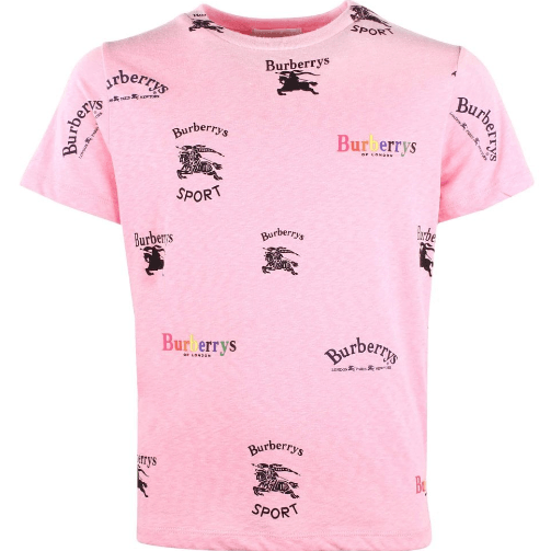 Burberry KG5 Burberry Logo T-Shirt For Girls, Light Pink