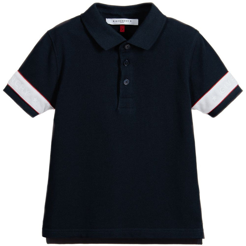 Givenchy Piqu' stitch polo shirt engraved button for Boys