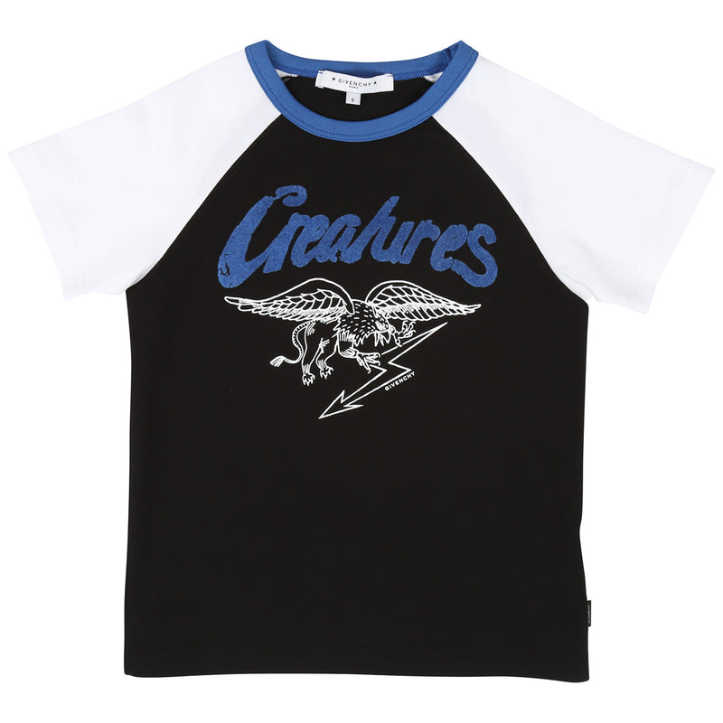 Givenchy Two-tone cotton jersey t-shirt for Boys