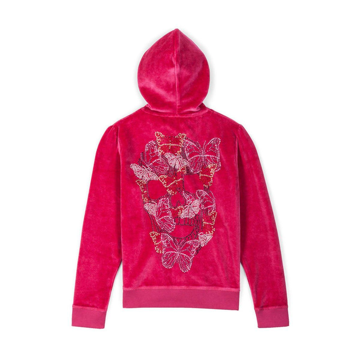 Philipp Plein - Butterfly Sequins Jogging Top For Girls, Red