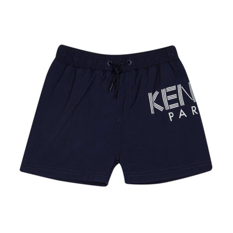 Kenzo - Bathing Trunk With Logo For Boys, Navy