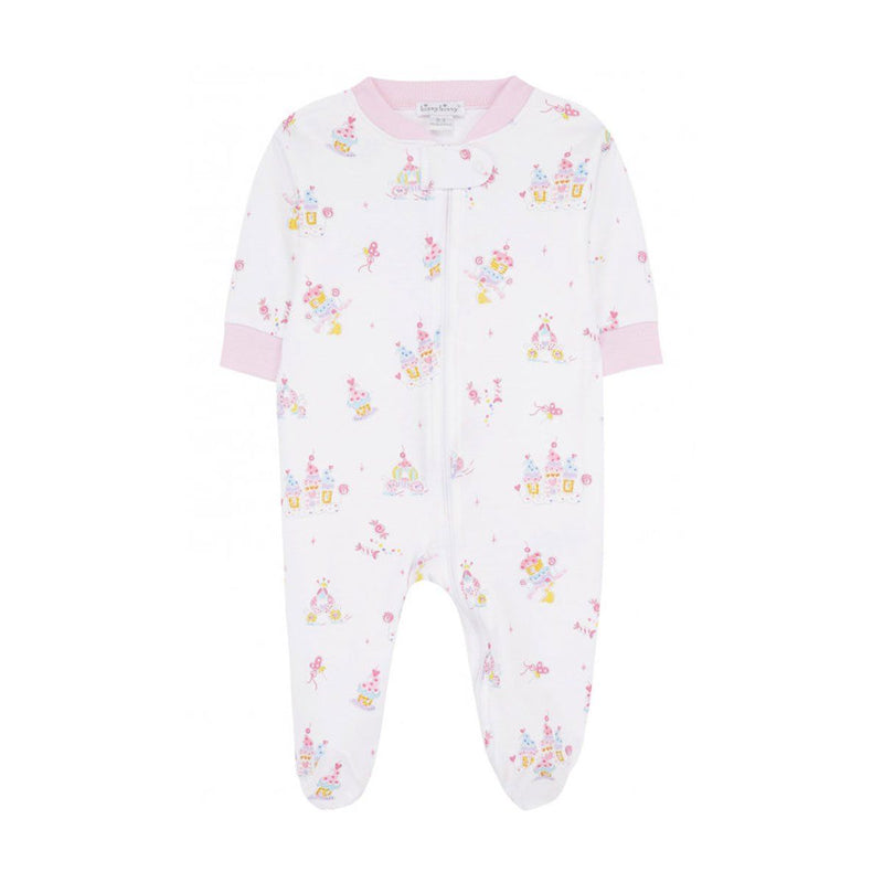Kissy Kissy - Candy Castles Print Footie For Girls, Multicolor