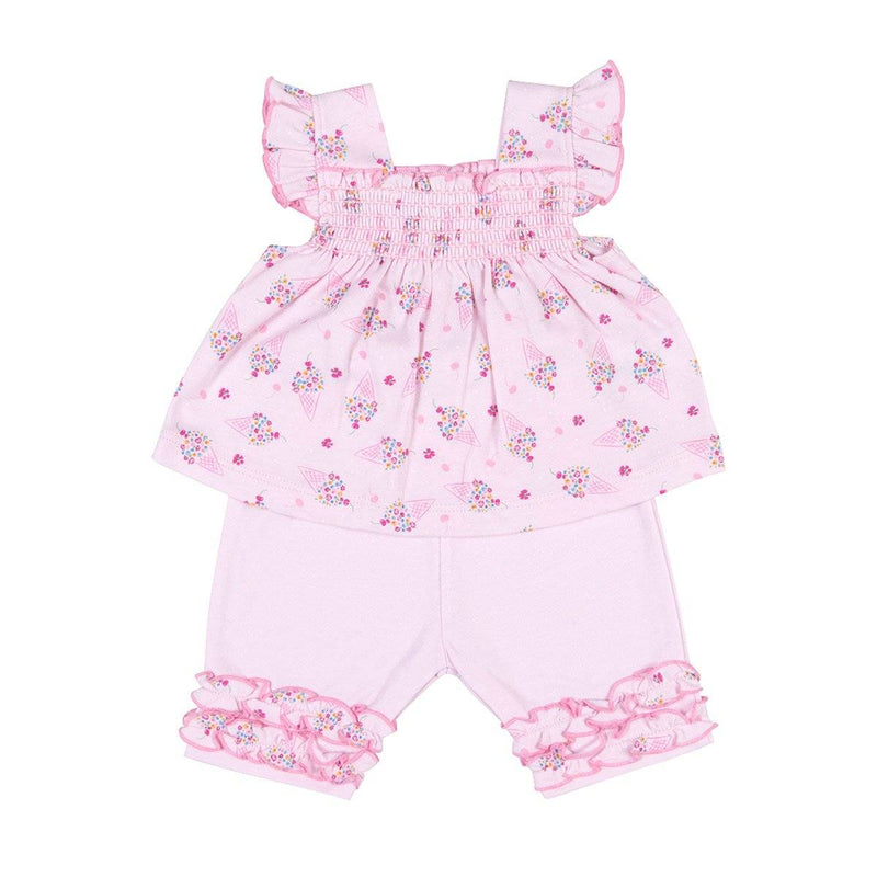 Kissy Kissy - Cherry On Top Capri Pant Set For Girls, Pink