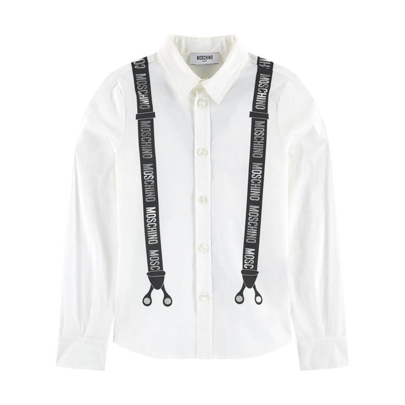 Moschino Shirt For Boys, White