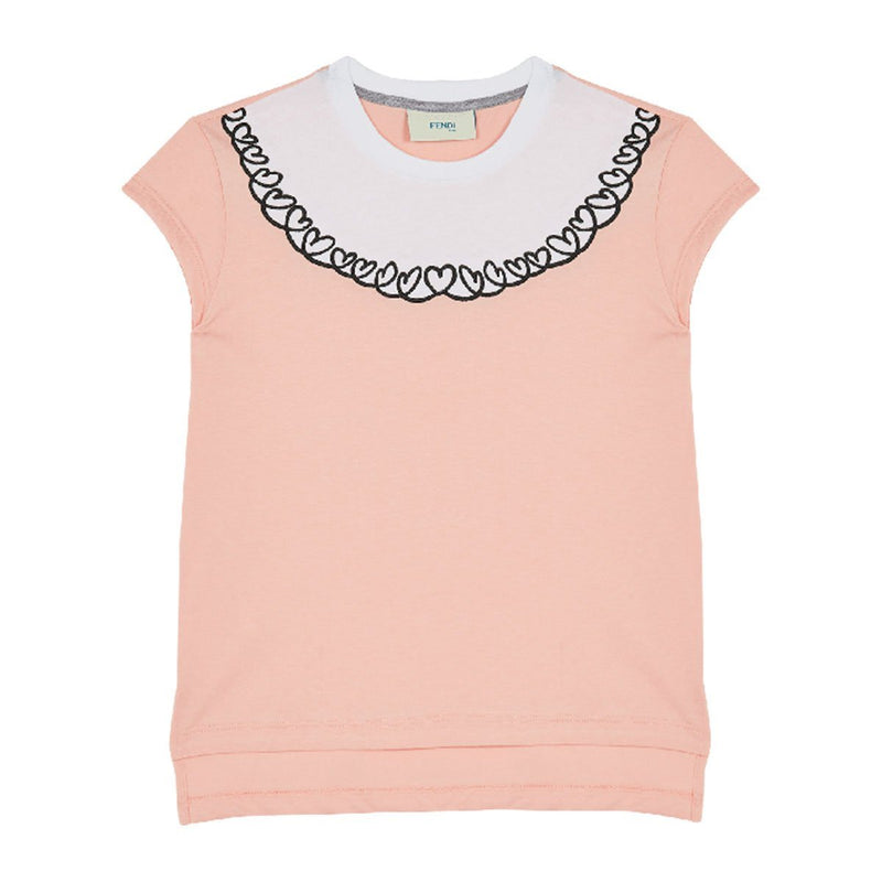 Fendi - Jersey T-Shirt For Girls, Pink/Black