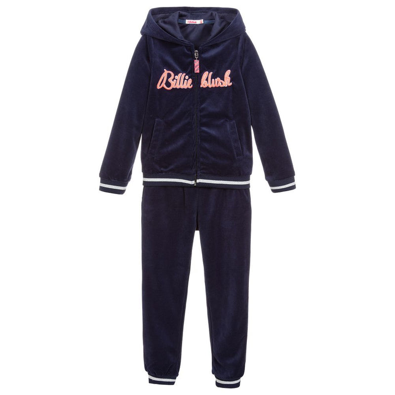 Billieblush Velvet Jogging Striped Tracksuit For Girls