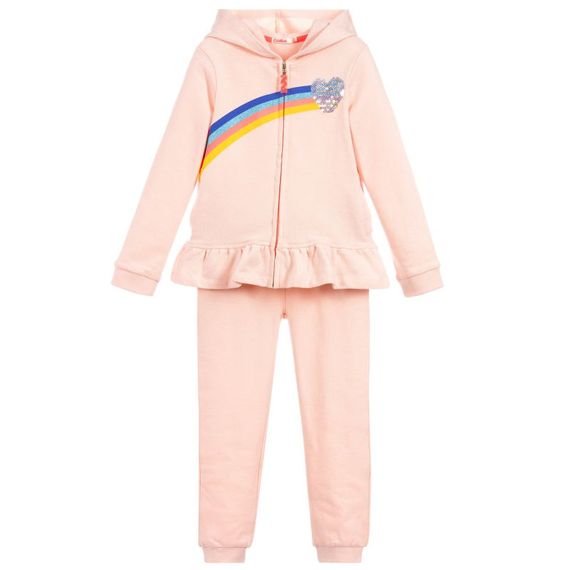 Billieblush Set Of French Terry Jogging N Cardigan  For Girls