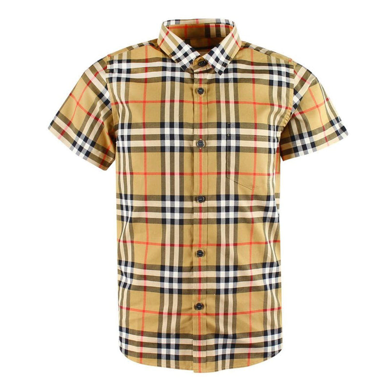 Burberry KG5 Fred Pocket Short Sleeves for Boys, Yellow