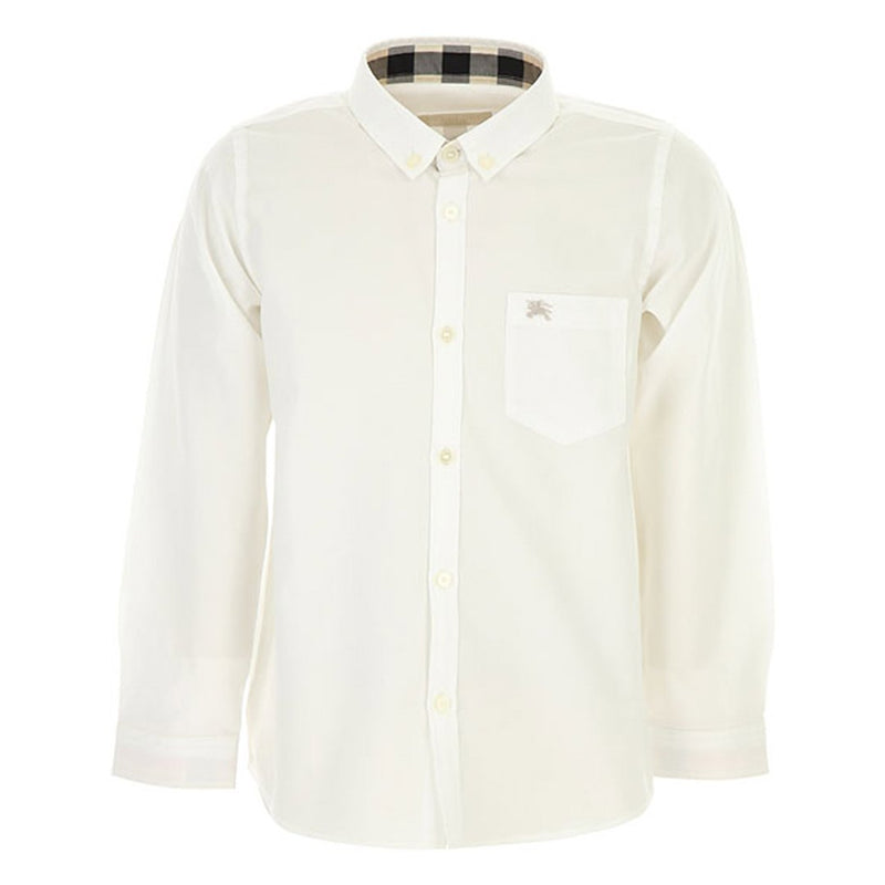 Burberry KB5 M Fred Pocket Check Shirt for Boys, White