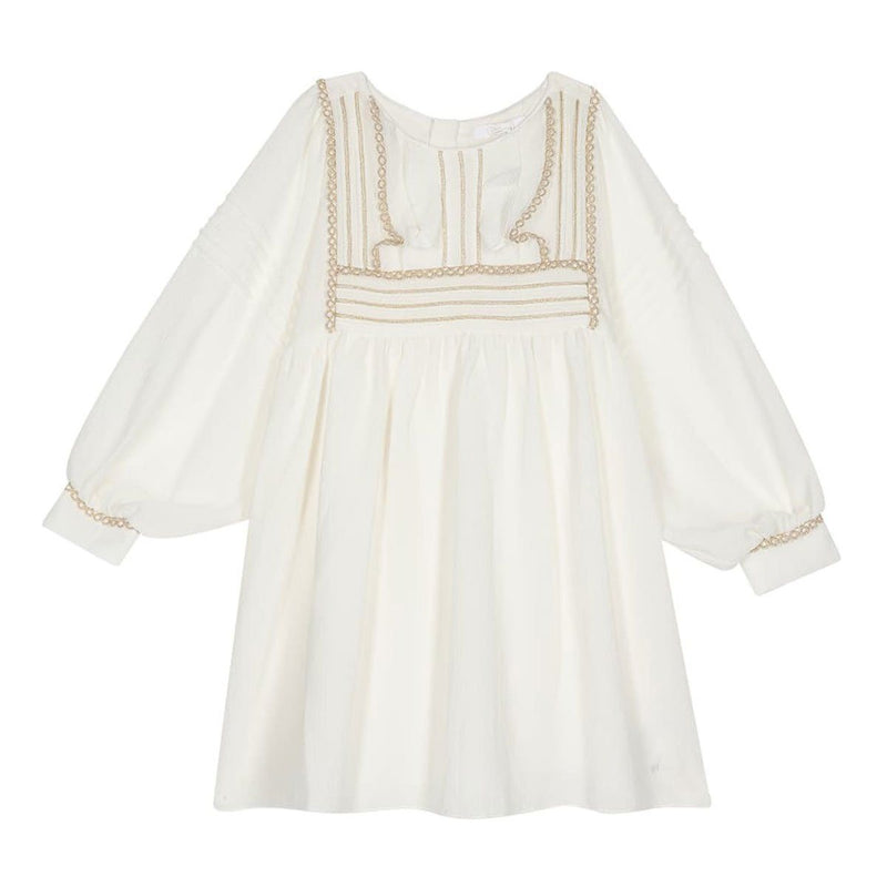 Chloe - Short Dress For Girls, Offwhite