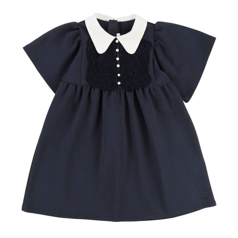 Chloe - Dress For Girls, Navy Blue
