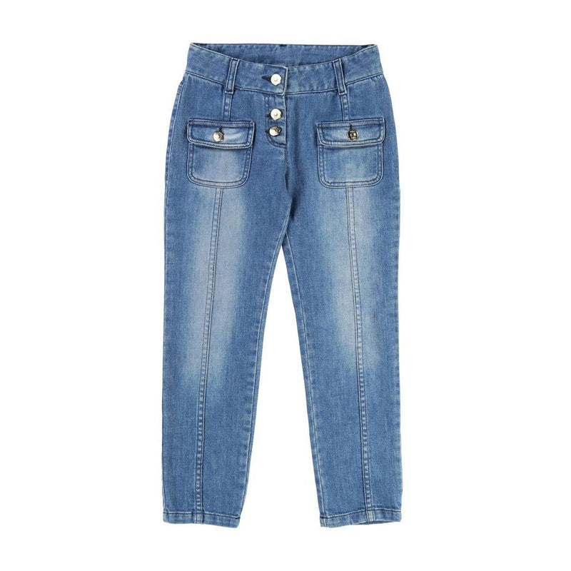 Chloe - Denim Trousers For Girls, Blue