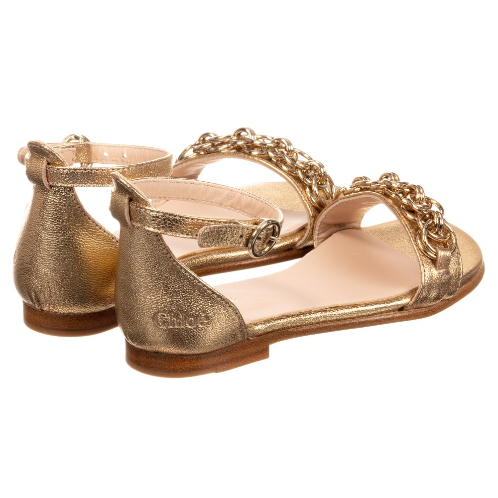 edabe64f226ec Chloe Iridescent goatskin leather sandals for Girls – Angels