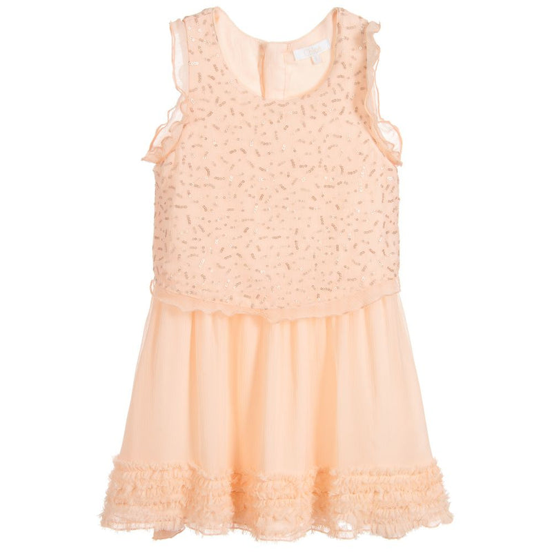 Chloe Couture dress in silk crepe for Girls