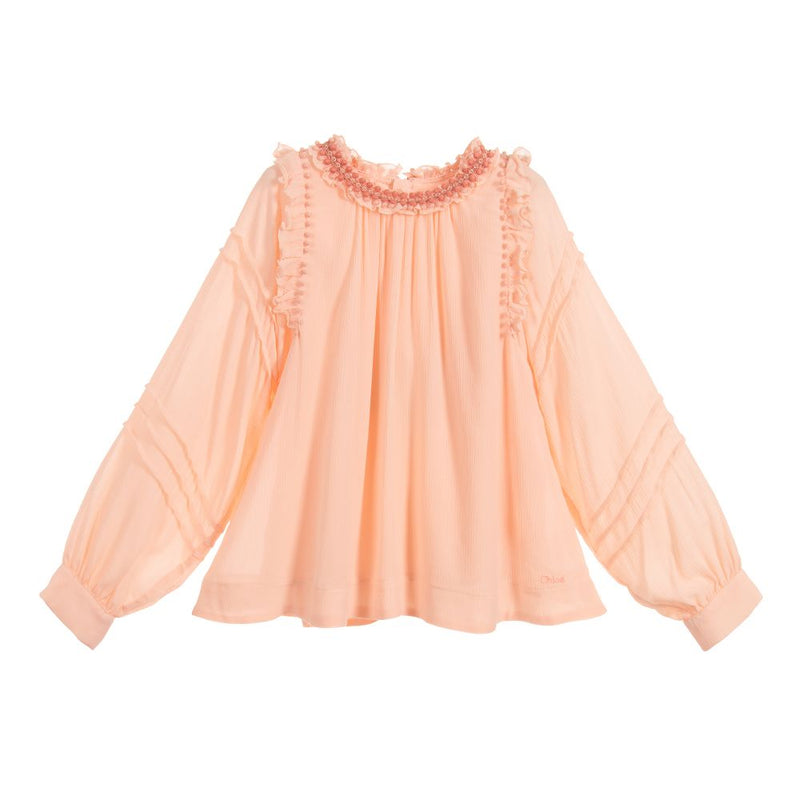 Chloe Blouse in viscose crepe  for Girls