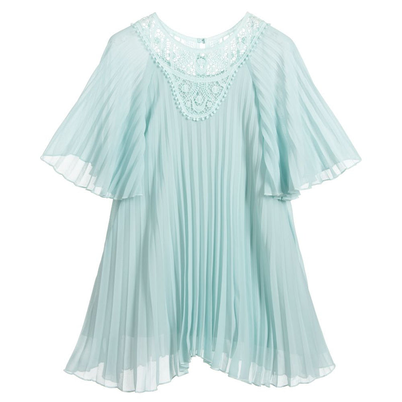 Chloe Pleated crepe couture dress for Girls