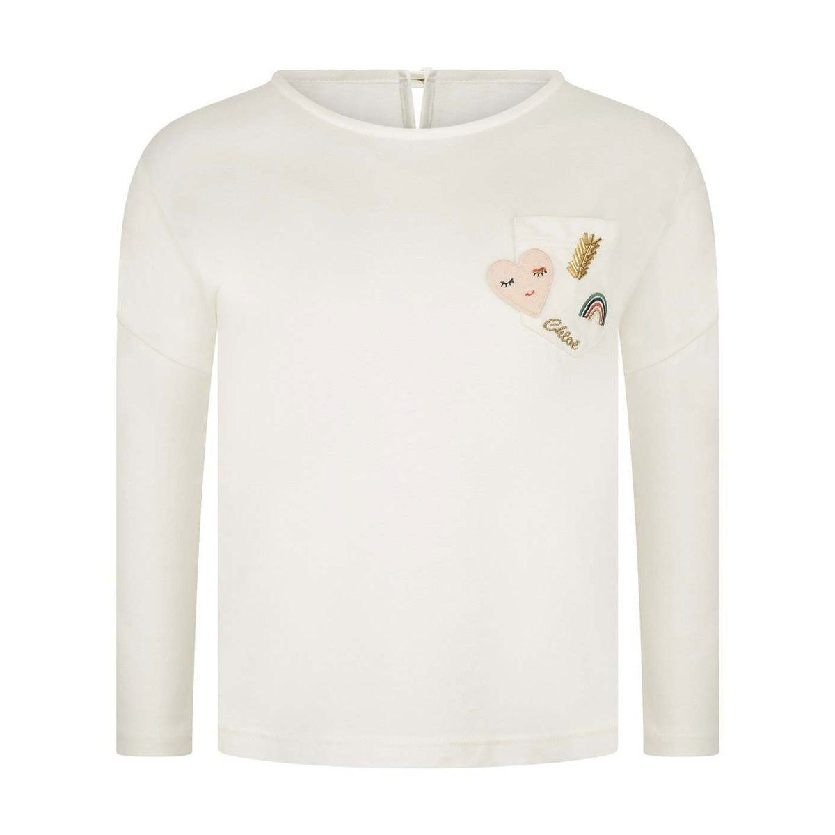 Chloe - T-Shirt For Girls, Off White