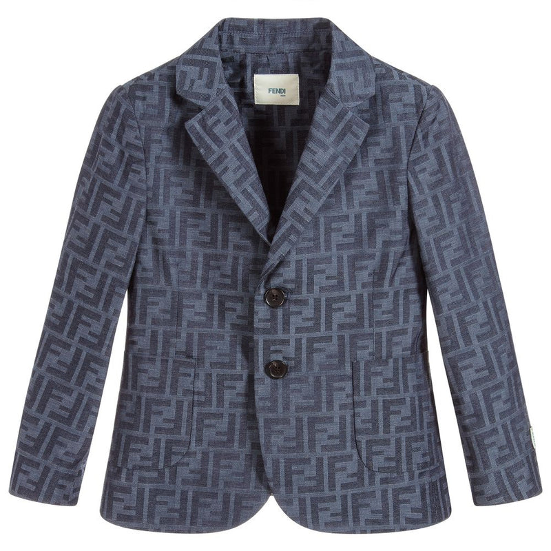 Fendi Boy Jacquard Ff Jacket for Boys