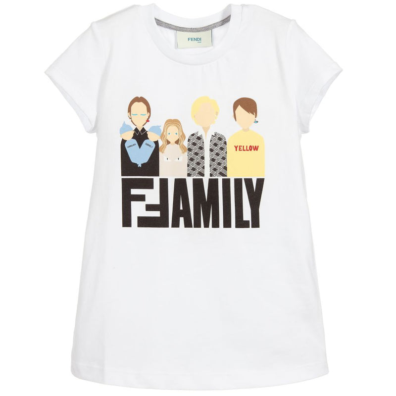 Fendi Girl Jersey T-Shirt for Girls
