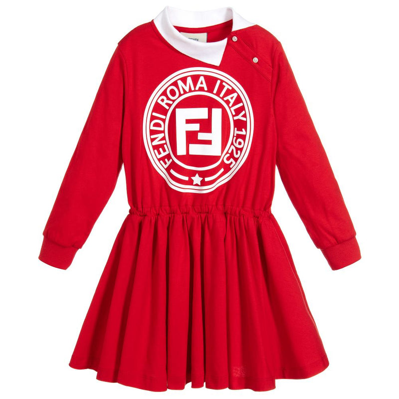 Fendi Girl Jersey Dress for Girls