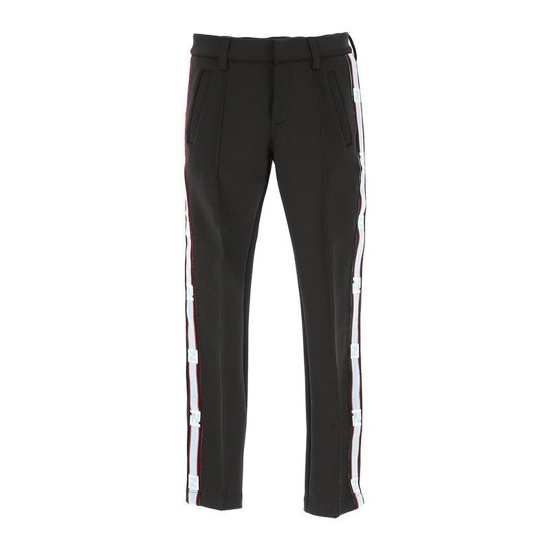 Fendi - Neoprene Striped Trousers For Boys, Black