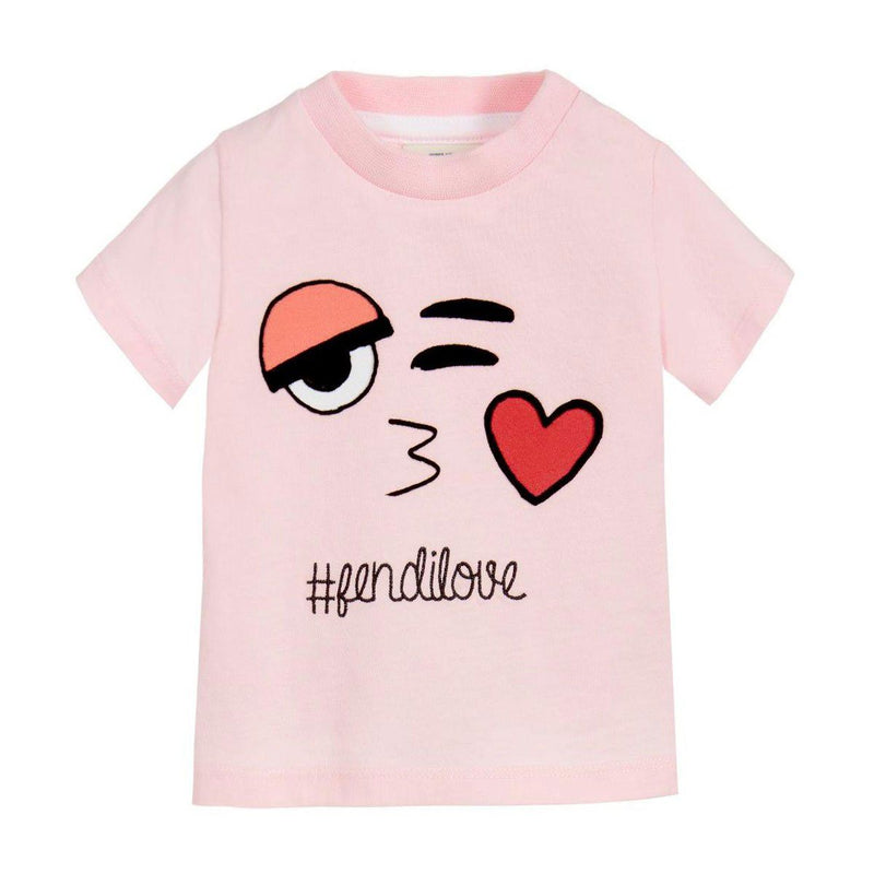 Fendi - Jersey T-Shirt For Girls, Light Pink