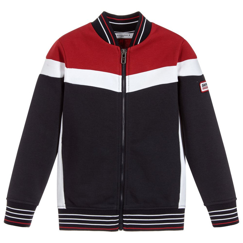 Givenchy Tricolor cardigan in no brushed fleece for Boys